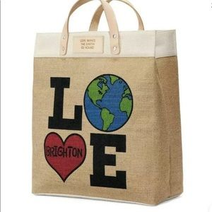 Brighton Love Makes the Earth Go Round jute tote